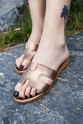 Ayakkabı Modası Bakır Kadın Terlik M1003-19-122030R 0