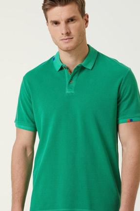 Network Erkek Slim Fit Yeşil Polo Yaka T-shirt 1078776 2