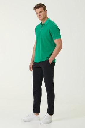 Network Erkek Slim Fit Yeşil Polo Yaka T-shirt 1078776 3