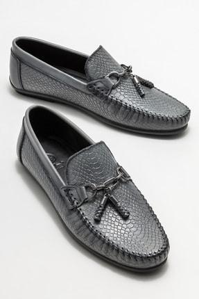 Elle Erkek Gri Deri Günlük Loafer Ayakkabı 1