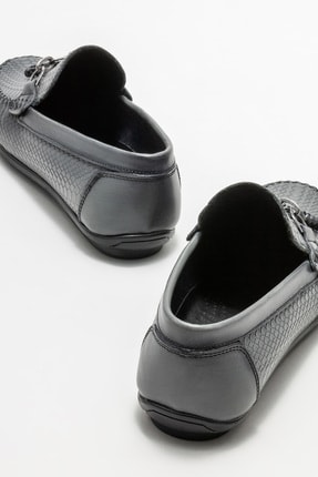 Elle Erkek Gri Deri Günlük Loafer Ayakkabı 3