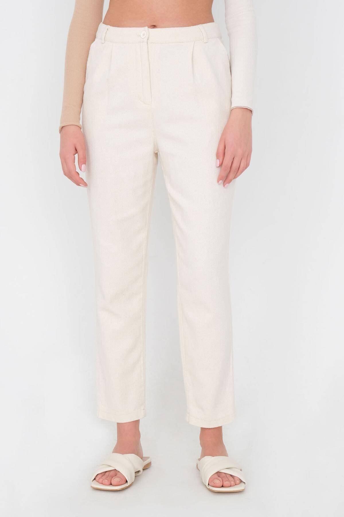 Addax Kadın Taş Cep Detaylı Pantolon Pn03-0045 - K12 Adx-0000024274 1