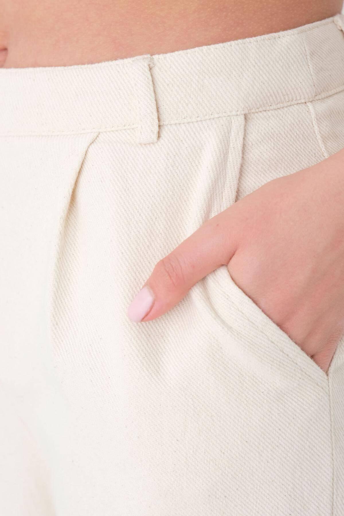 Addax Kadın Taş Cep Detaylı Pantolon Pn03-0045 - K12 Adx-0000024274 2