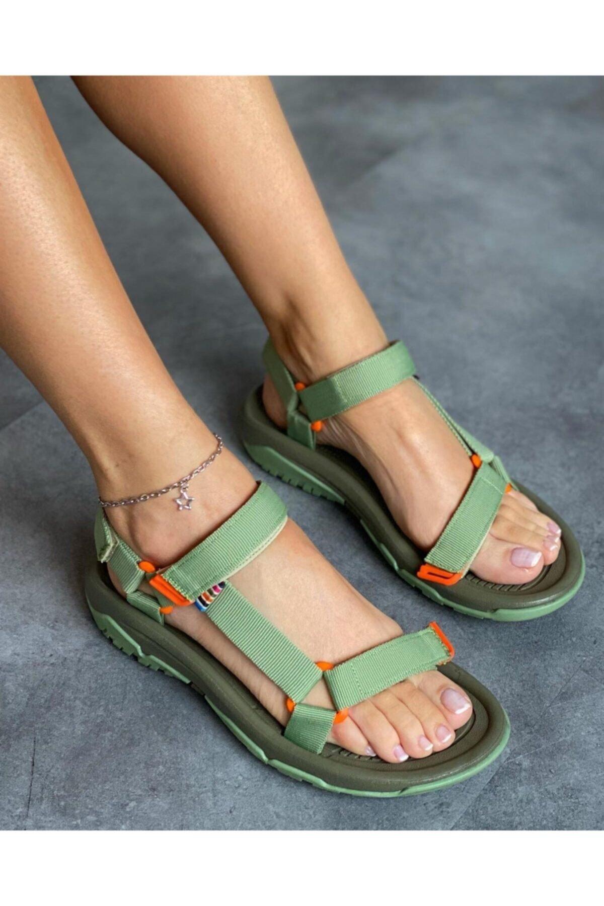 Kadın Haki Outdoor Sandalet