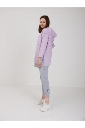 oia Kadın Lila Pamuklu Tunik Pantolon Takım W-0900 2