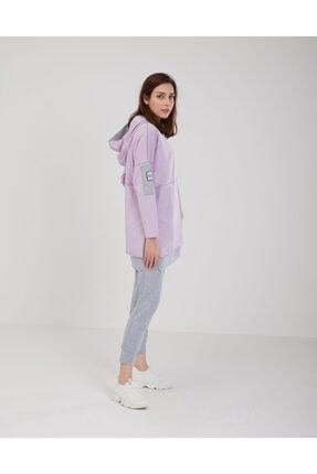 oia Kadın Lila Pamuklu Tunik Pantolon Takım W-0900 3