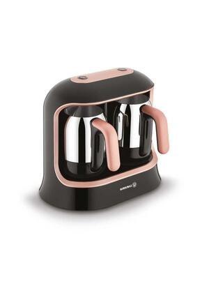 KORKMAZ Kahvekolik Twin Siyah/rosagold Otomatik Kahve Makinesi 0