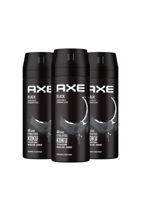 Axe Erkek Deodorant Sprey Black 150 Ml X3 0