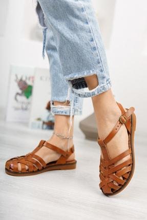Muggo Infw313 Hakiki Deri Kadın Sandalet 3