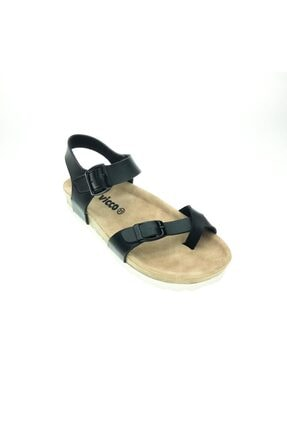 Vicco Kız Çocuk Siyah Sandalet Jolly 0