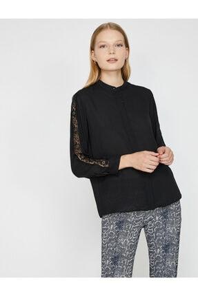Koton Kadın Siyah Gömlek 0KAK68866PW 1