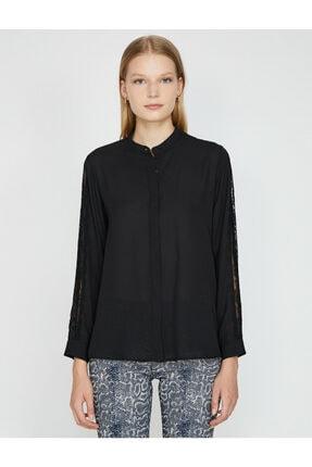 Koton Kadın Siyah Gömlek 0KAK68866PW 3