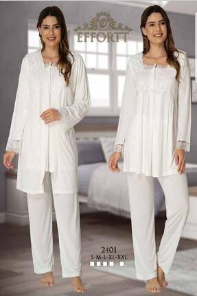 Effort Pijama Lohusa Uzun Kol 3'lü Pijama Takım 0