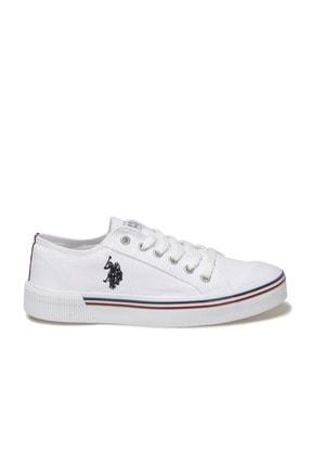US Polo Assn Kadın  Beyaz Havuz Taban Sneaker 100696337 1