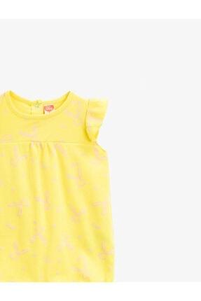 Koton Bebek Sarı Pamuklu Hayvan Desenli Tulum 2