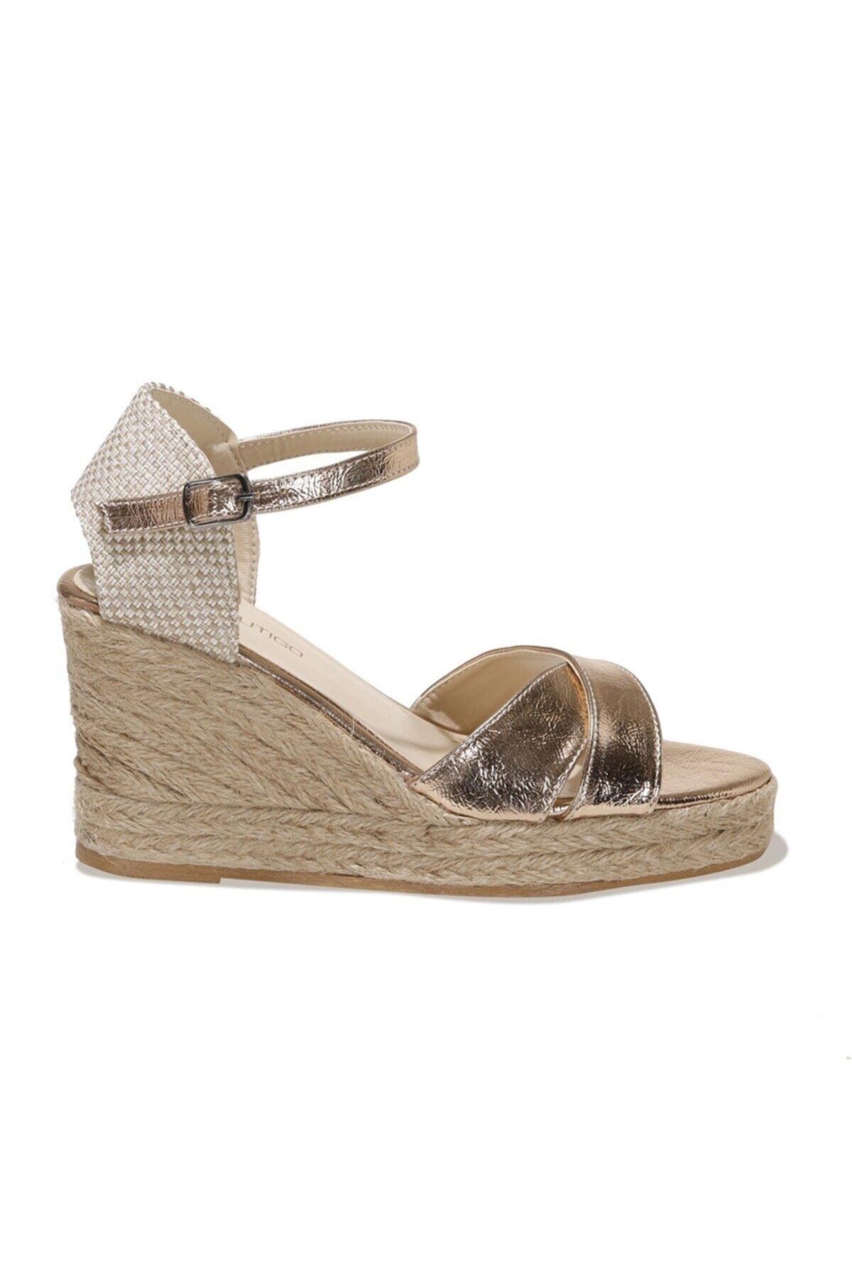21S-3121FX Rose Gold Kadın Dolgu Topuklu Sandalet 101014457