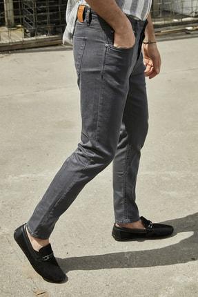 Sateen Men Erkek Antrasit Yıkamalı Pamuk Pantolon 2