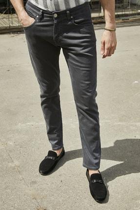 Sateen Men Erkek Antrasit Yıkamalı Pamuk Pantolon 3