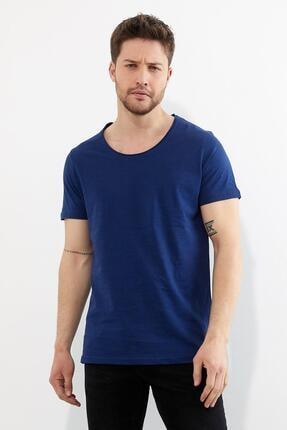 Figo Erkek Lacivert Bisiklet Yaka Basic T-shirt 1
