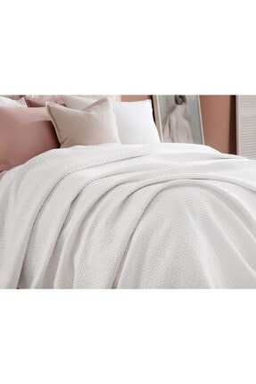 Madame Coco Eugenia King Size Yatak Örtüsü - Beyaz 2