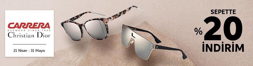 Carrera, Christian Dior, Fendi, Tommy Hilfiger Güneş Gözlüğü Koleksiyonu