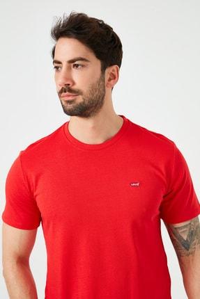 Levi's Erkek Kırmızı Regular Fit Bisiklet Yaka T-Shirt 4