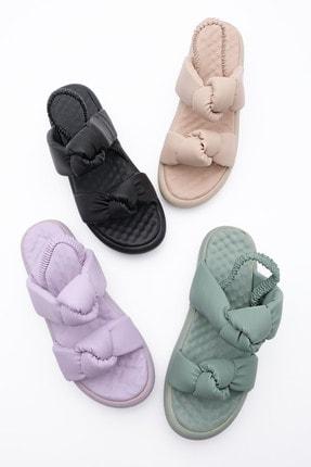 Marjin Kadın Lila Horev Dolgu Topuk Sandalet 2