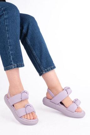 Marjin Kadın Lila Horev Dolgu Topuk Sandalet 3
