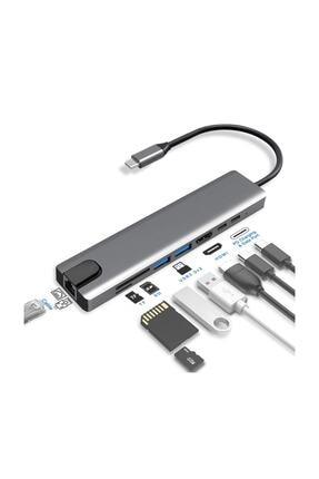 Santa Maria Jewels 8 In 1 Ethernet Sd Usb Type C Hub Hdmı Girişli Macbook Çevirici 1