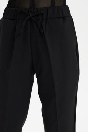 TRENDYOLMİLLA Siyah Bağlama Detaylı Pantolon TWOSS19ST0212 3