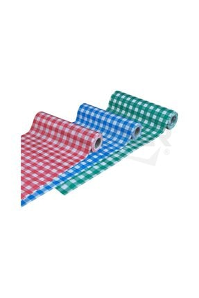 Pratikser Tek Kullanımlık Masa Örtüsü (kırmızı-mavi-yeşil) - 100x120cm - 3 Rulo 0