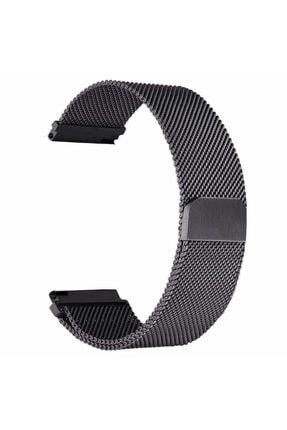 Samsung Galaxy Watch 46mm (22mm) Krd-12 Akıllı Saat Kordonu Metal Örgü Hasır Kordon Kayış Bileklik 0