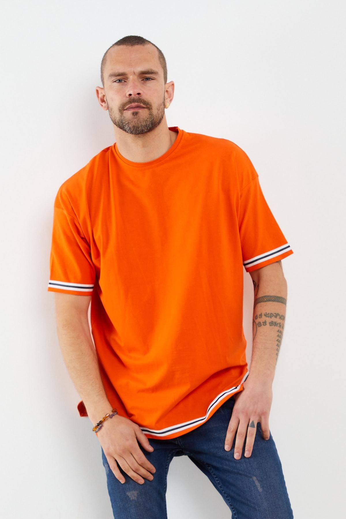 Çizgi Detay Kısa Kollu T-shirt