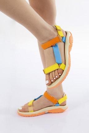 GNY AYAKKABI Kadın Karışık Renkli Spor Sandalet 2