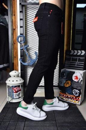 Lose Jeans Erkek Siyah Skinny Fit Likralı Bilek Boy Pantolon 1