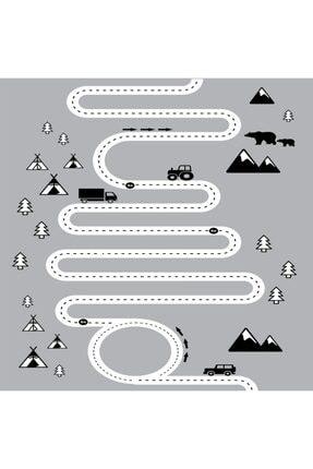 Soho Halı Beyaz Iskandinav Yol Çocuk Odası Halısı 150*230 1