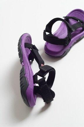 LuviShoes Kadın Mor Tekstil Sandalet S1 3