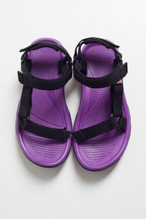 LuviShoes Kadın Mor Tekstil Sandalet S1 4