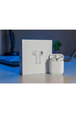 BySarsa Beyaz Iphone Uyumlu Airpods 2. Nesil Wireless Şarj Bluetooth Kulaklık 3
