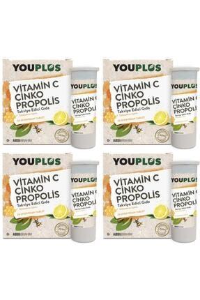 Youplus 4 Adet Youplus Vitamin C, Çinko, Propolis Efervesan Tablet Takviye 0