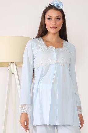 lohusahamile Lohusa Hamile 2603 Mavi Lohusa Pijama 1
