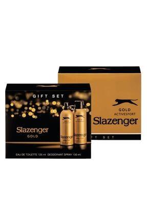 Slazenger Gold Edt 125 ml Erkek Parfüm + 150 ml Erkek Deodorant Set 896412SLA746MN1743 0