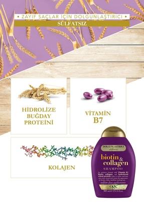 OGX Dolgunlaştırıcı Biotin&Kolajen Sülfatsız Şampuan 385ml + Bakım Kremi 385ml 3