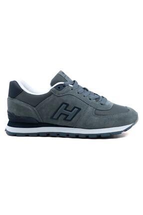 Hammer Jack Unisex Gri Hakiki Deri Spor Ayakkabı 1