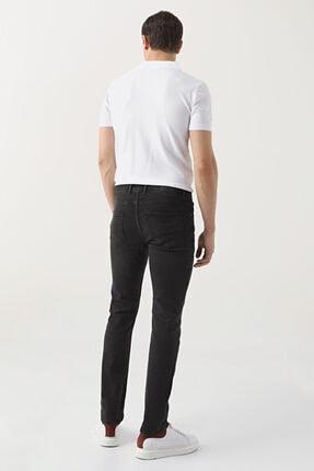 D'S Damat Erkek Siyah  Slim Fit Düz Denim Pantolon 2