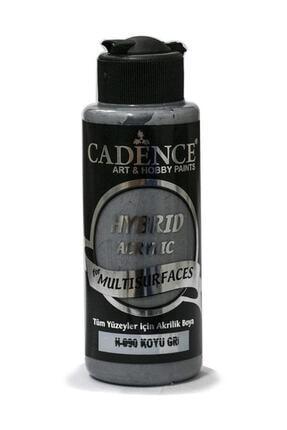 Cadence Boya H-090 Koyu Gri Renginde Akrilik Boya 120 ml 0
