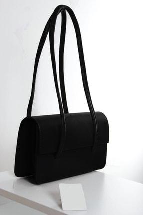 bag&more Kadın Koyu Siyah Kapaklı Baget Çanta 0