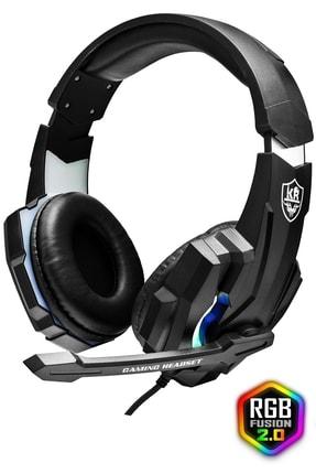 KR Led Işıklı Surround Usb Miofonlu Oyuncu Kulaklığı M9000 1