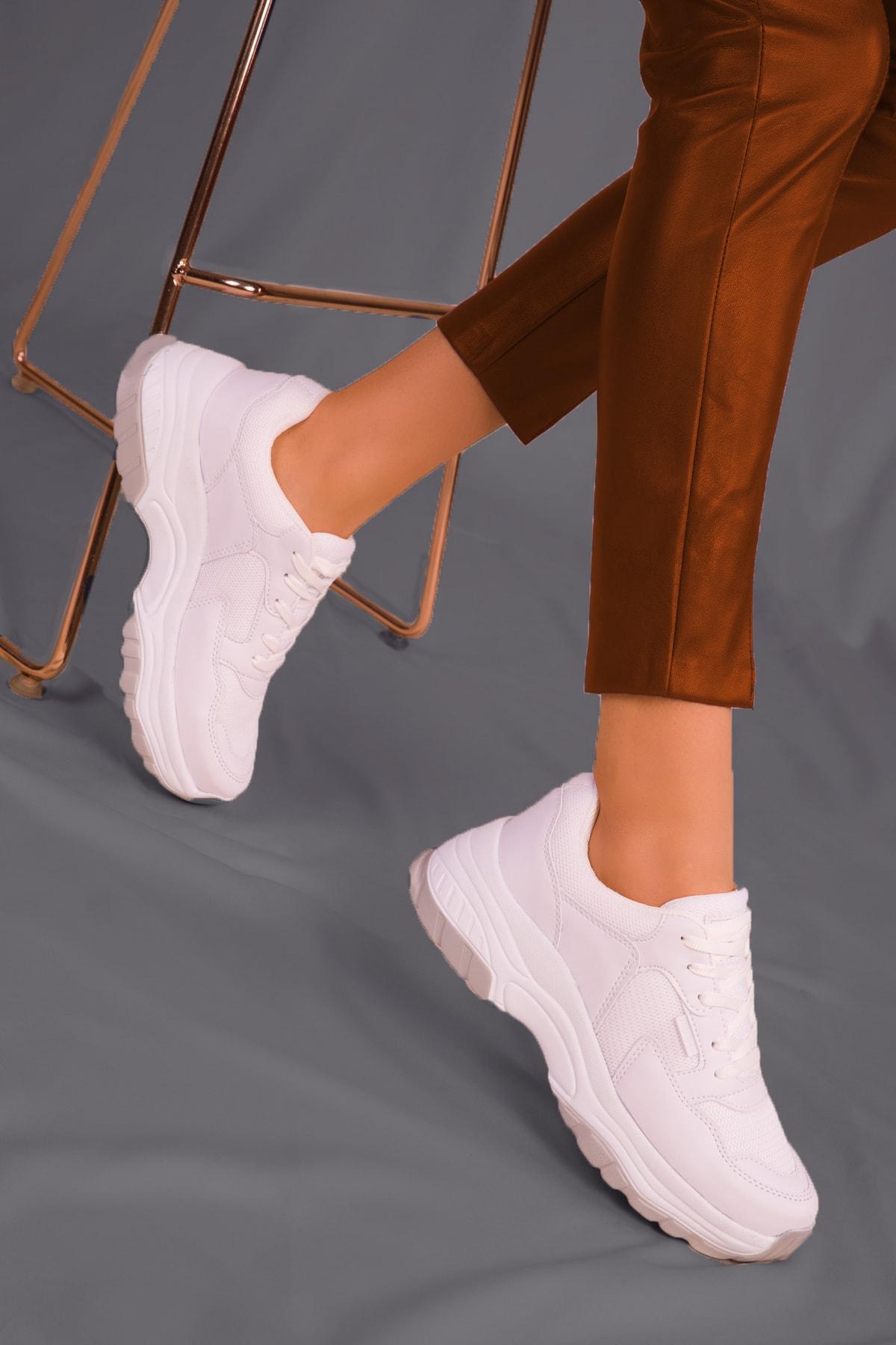ICELAKE Unisex Beyaz Sneaker Y01ls106