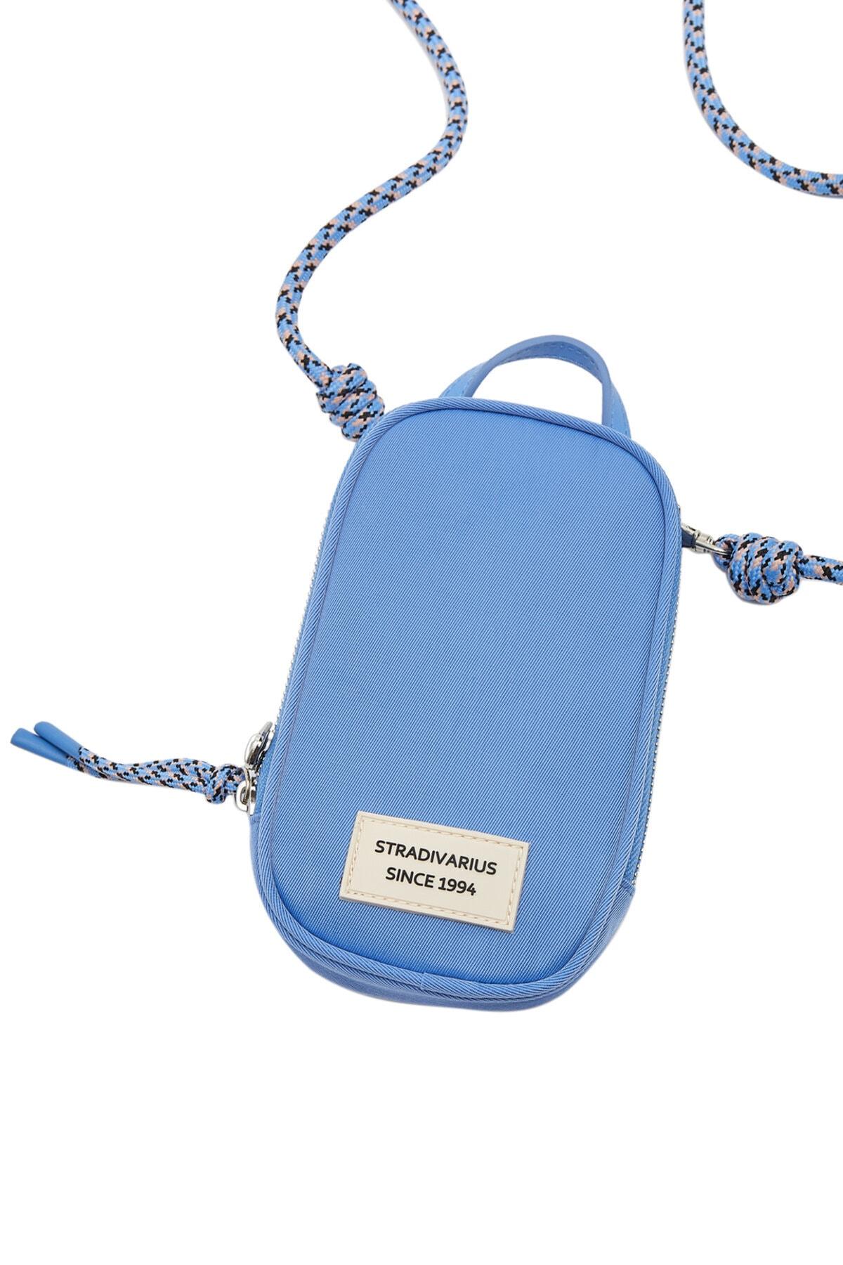 Stradivarius Kadın Mavi Omuz Askılı Telefon Çantası 0